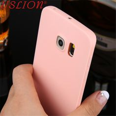 For Samsung Galaxy S6 S6 Edge S7 Candy colors Soft TPU Silicon Phone Case Phone Shell Coque Cover Back Case bags