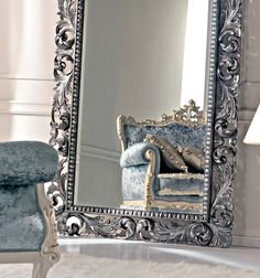 Paris collection French Rococco floor mirror - Juliettes Interiors Ltd