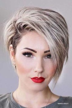 Pixie Haircut For Thick Hair, Short Hairstyles For Thick Hair, Curly Hair Styles, Short Hair Cuts For Women With Round Faces, Undercut Hairstyles, Hairstyles Haircuts, Pixie Haircuts, Fat Face Hairstyles, Short Haircuts For Women