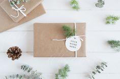 Geschenk-tag mock-up - Stil Stockfotografie - Weihnachten gestylt - High Res JPEG-Datei - perfekt für Pinsel, Schriftzüge, Illustration, Prototypen
