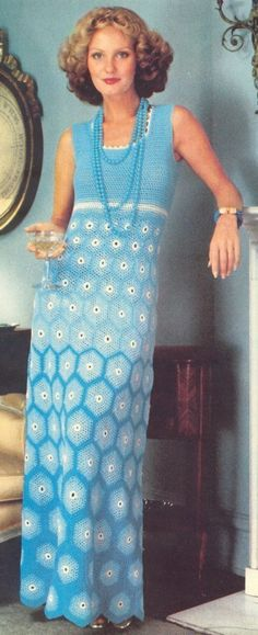 Crochet patrón vestido---vestido hermoso adorno---descarga instantánea