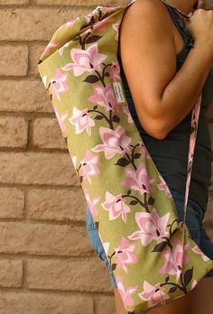 Handmade Yoga Mat Bag PINK LILY'S by ChellaBellaDesigns on Etsy, $24.00