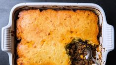 Tamale Pie with Mint Yogurt Recipe | Bon Appetit