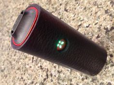 Black Protective Leather Sleeve for the Pax from Ploom.  Handmade Pax Case to cover your Investment!