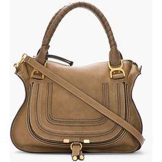 CHLOE Medium Nut Brown Leather Marcie Shoulder Bag ($1,436) ❤ liked on Polyvore