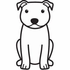 Staffordshire Bull Terrier Dog Cartoon Photo Cut Out