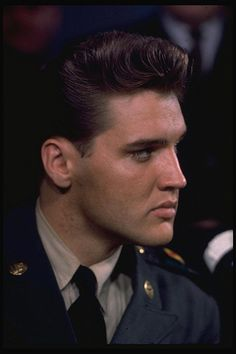 Elvis Presley during the Press Conference on his last day serving in US Army by rising70, via Flickr