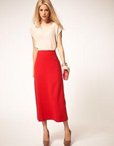 Near ankle skirt