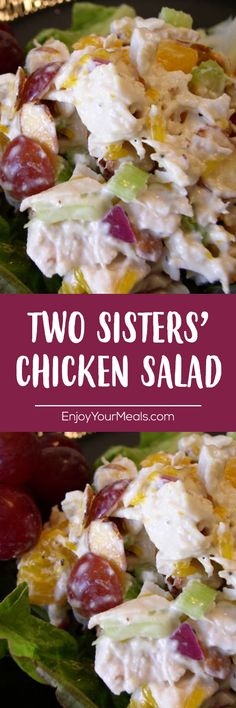 Two Sisters' Chicken Salad - Enjoy Your meals - Salad Recipes New Recipes, Cooking Recipes, Healthy Recipes, Medifast Recipes, Wrap Recipes, Recipes Dinner, Seafood Recipes, Cake Recipes, Breakfast Recipes