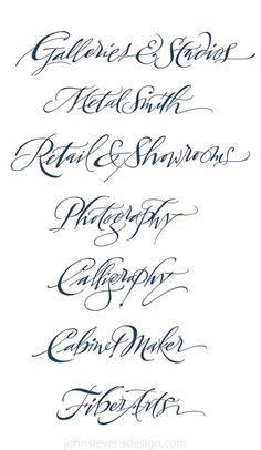 Brush Lettering, Lettering Design, Hand Lettering, Calligraphy Alphabet, Modern Calligraphy, John Stevens, Illumination Art, Font Art, Signwriting
