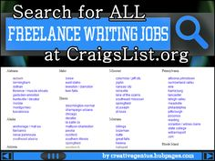 Learn how to search CraigsList for all freelance writing jobs in every state in the U.S. and Canada.