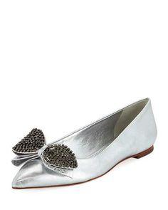 b6cde236adf5 Tory Burch Rosalind Metallic Ballerina Flat Ballerina Flats