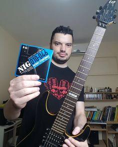 Preparando a troca de cordas da guitarra grande para voltar a fazer outros estudos e sons.  #nigstrings #ESPhorizon #Guitar #ElectricGuitar @nigmusic