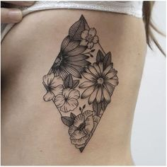 Flower, body tattoo on TattooChief.com