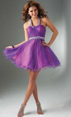 Lindo Vestido para Fiesta de Promoción color Morado : Vestidos para tu fiesta