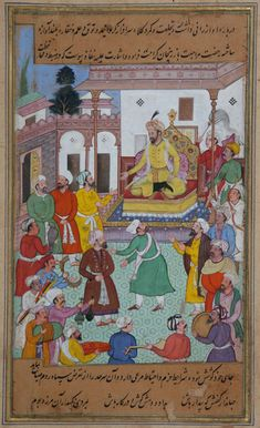 Timur, Gürcistan seferi esnasında  Timur giving orders to the General Assembly for a campaign against Georgia, whilst receiving Mutahartan, Emir of Erzinjan in Armenia