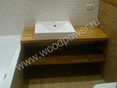 Деревянные столешницы в ванную