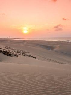 Amazing sunset in the desert of Boa Vista, Cape Verde #Kaapverdie - More at https://www.kaapverdie.nl/vakantie-boa-vista/