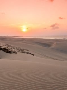 Amazing sunset in the desert of Boa Vista, Cape Verde #Kaapverdie