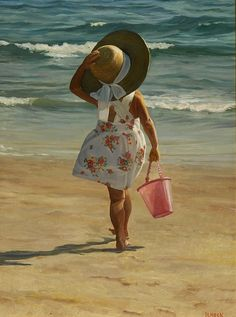 """""""Girl at the Beach"""" by David Schock"""