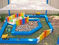 How to make a sandpit - someday I will do this for Kinsley!