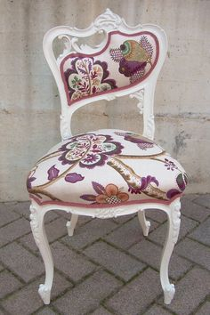 This would make zero sense in my home, but it's GORGEOUS. Liberty chair by LorenDesignStore on Etsy, €200.00.