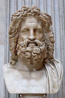 Zeus, Busto em Otricoli (Sala Rotonda, Museu Pio-Clementino, Vaticano). Cópia romana de original grego, século IV Mitologia grega – Wikipédia, a enciclopédia livre