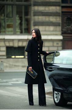 CHLOÉ | That coat and pant create such a stunning architectural silhouette.