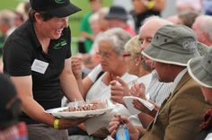 Serving up some lamb to the crowd at the Glammies 8th Of March, New Zealand, Lamb, Crowd, Beef, Marketing, Photo And Video, People, Meat