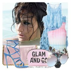 """POOL PARTY GLAM"" by tiziana-melera ❤ liked on Polyvore featuring Triumph, Fendi, STELLA McCARTNEY, Ted Baker, Victoria's Secret, Dsquared2, Full Tilt, poolparty, summer2015 and polyvoreeditorials"