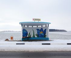 The bus stops of Belarus. Via Messy Nessy Chic