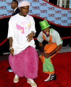 Sorry, Lady Gaga. OutKast are the real unsung style heroes of the MTV VMA red carpet. 90s Hip Hop, Hip Hop Rap, 2000s Fashion, Hip Hop Fashion, Double G, Andre 3000, Pink Fox, Look Man, Mtv Video Music Award