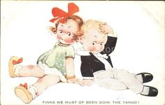 Attwell Mabel Lucie Nr. 1013 Kinder Tanz Tango  Kat. Kuenstlerkarte 0