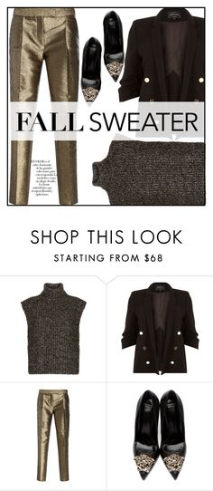 """""""Untitled #168"""" by enicanovi on Polyvore featuring Arco, Étoile Isabel Marant, River Island, Elie Saab and Versace"""