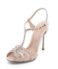 Sergio Rossi Swarovski Crystal Sandal