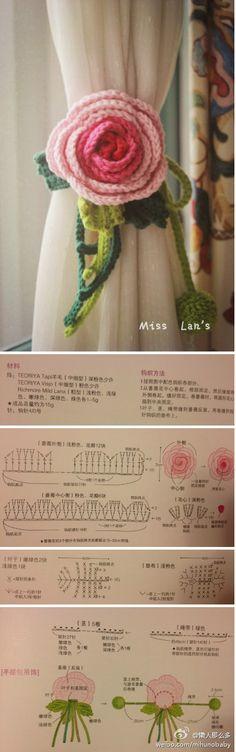 a brooch? a curtain cord? a hair pin decoration? beautiful crochet... ✿Teresa Restegui http://www.pinterest.com/teretegui/✿