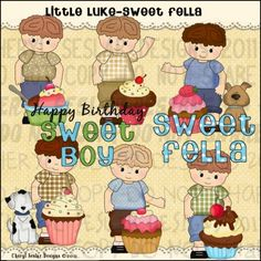 Little Luke Sweet Fella 1 - Clip Art by Cheryl Seslar