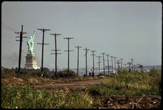 #10. The Statue of Liberty photographed from New Jersey in 1973.