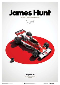 McLaren James Hunt 40th Anniversary Japan 76 Limited Edition Poster.