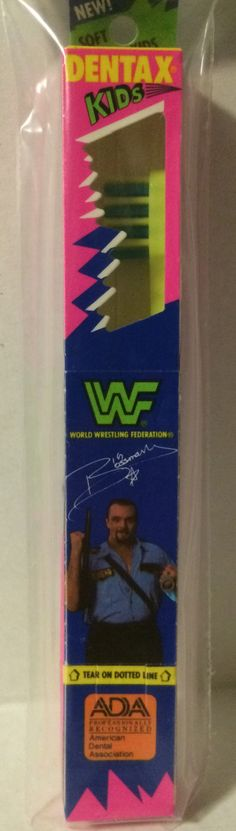 (GBS04715) - WWF WWE WCW nWo Wrestling Dentax Kids Toothbrush - Big Boss Man