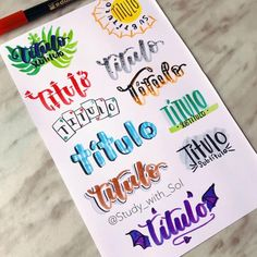 Bullet Journal Titles, Bullet Journal Lettering Ideas, Bullet Journal Banner, Journal Fonts, Bullet Journal Aesthetic, Bullet Journal School, Hand Lettering Alphabet, Lettering Styles, Lettering Tutorial