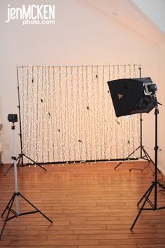 Christmas light bokeh photo setup