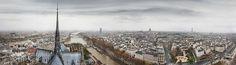 Panorama to Seine Ile de la Cite and Latin Quarter by zheltikov