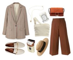 """""""boss lady"""" by rsussher ❤ liked on Polyvore featuring MANGO, Marni, Forever 21, Diptyque and Chloé"""
