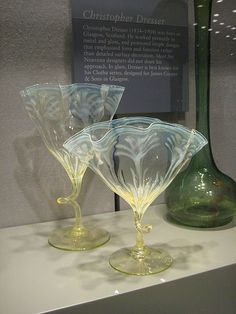 """Two """"Straw Opal"""" Vases with Wavy Rims"""