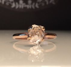A personal favorite from my Etsy shop https://www.etsy.com/listing/540972681/raw-rose-gold-herkimer-diamond