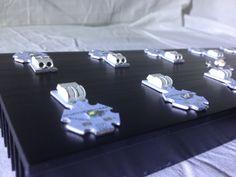 Posicionamento dos leds solderless cree no dissipador :: www.creeled.com.br