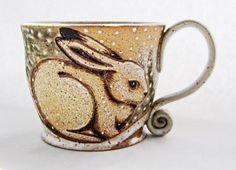 New Snap Shots pottery mugs with words Suggestions Winter Rabbit Mug Pottery Mugs, Ceramic Pottery, Ceramic Cups, Ceramic Art, Stars Disney, Cerámica Ideas, Gift Ideas, Clay Mugs, Rabbit Art