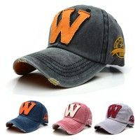 Wish | Cool !! Fashion Unisex Baseball Caps, Outdoor Sports Adjustable Baseball Cap; W Letters (6 colors)