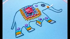 Hand Embroidery Designs, Embroidery Stitches, Elephant Design, Snoopy, Crafty, Beads, Youtube, Elephants, Tutorials